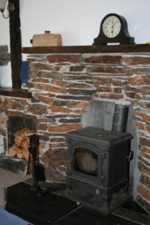 Log burner in sitting room