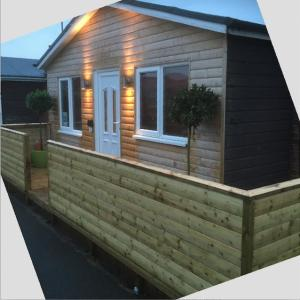 Chalet 103 at Bridlington in Yorkshire, recently renovated..