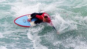 WORLD PRO JUNIOR KNEEBOARD CHAMPION RICHARD SMITH WINNING THE BRITISH NATIONAL TITLE WHO LIVES AND SURFS POLZEATH NORTH CORNWALL. POLZEATH COTTAGES ARE PROUD TO SPONSOR RICHARD WHO IS ALSO THE ENGLISH NATIONAL CHAMP.